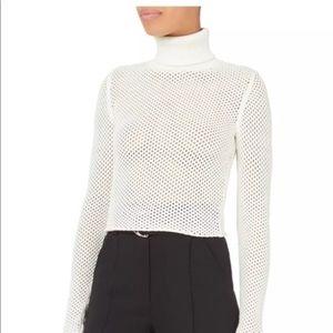 New A.L.C. Jones Fishnet Sweater White Medium